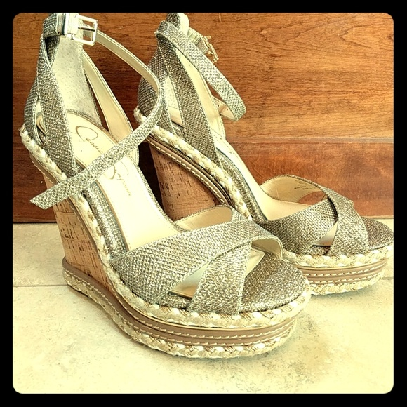 9fdafabe7e Jessica Simpson Shoes - Jessica Simpson Ahnika Wedges NWOT